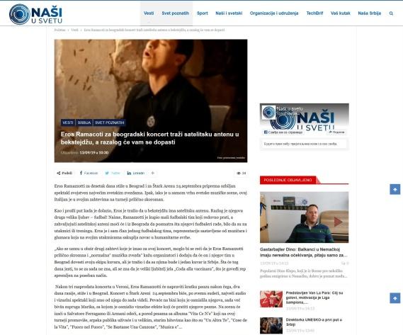 1309 - nasiusvetu.com - Eros Ramacoti za beogradski koncert trazi satelitsku antenu u bekstejdzu