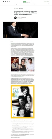 1310 - citymagazine.rs - Svecani koncert posvecen najlepsim italijanskim numerama 21. oktobra u Operi i teatru Madlenianum