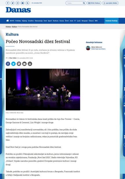 1411 - danas.rs - Poceo Novosadski dzez festival