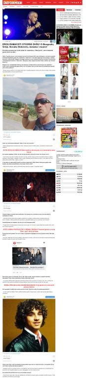 2009 - informer.rs - EROS RAMACOTI OTVORIO DUSU! O Beogradu, Srbiji, Novaku Djokovicu, zenama i muzici