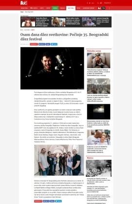 2010 - blic.rs - Osam dana dzez svetkovine- Pocinje 35. Beogradski dzez festival