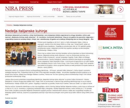 2011 - nirapress.com - Nedelja italijanske kuhinje