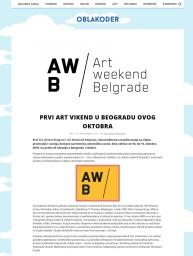 2109 - oblakoder.org.rs - Prvi Art vikend u Beogradu ovog oktobra