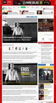 2309 - srbijadanas.com - EROS RAMAZZOTTI STIGAO U BEOGRAD- Italijanski sarmer sutra u Stark Areni