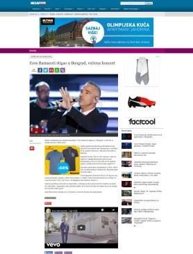 2409 - nezavisne.com - Eros Ramacoti stigao u Beograd, veeras koncert