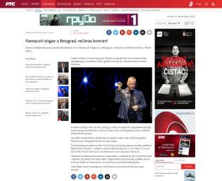 2409 - rts.rs - Ramacoti stigao u Beograd, veceras koncert