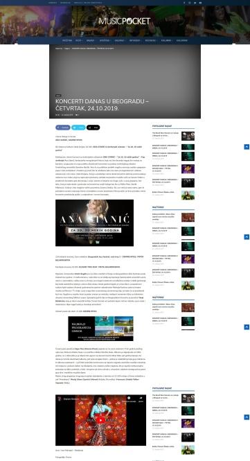 2410 - musicpocket.org - KONCERTI DANAS U BEOGRADU