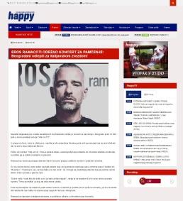 2509 - happytv.tv - EROS RAMACOTI ODRZAO KONCERT ZA PAMCENJE
