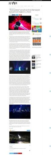 2509 - remixpress.com - Zivot postoji porucio je Eros Ramazzoti koncertnom bajkom u Areni
