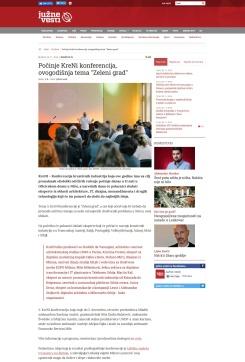 2811 - juznevesti.com - Pocinje KreNi konferencija, ovogodisnja tema Zeleni grad