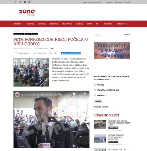 2811 - tvzonaplus.rs - PETA KONFERENCIJA KRENI POCELA U NISU