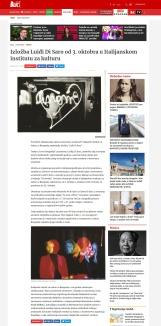 3009 - blic.rs - Izlozba Luidji Di Saro od 3. oktobra u Italijanskom institutu za kulturu