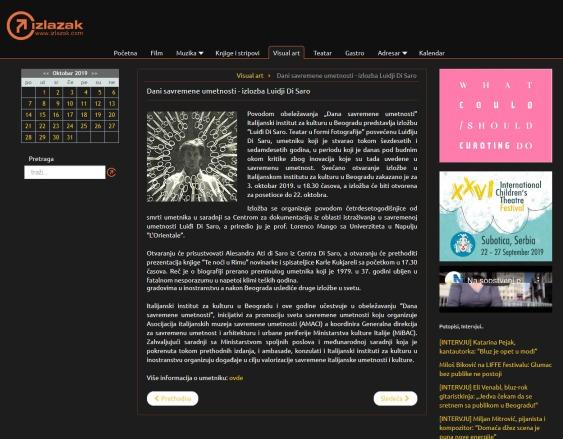 3009 - izlazak.com - Dani savremene umetnosti - izlozba Luidji Di Saro