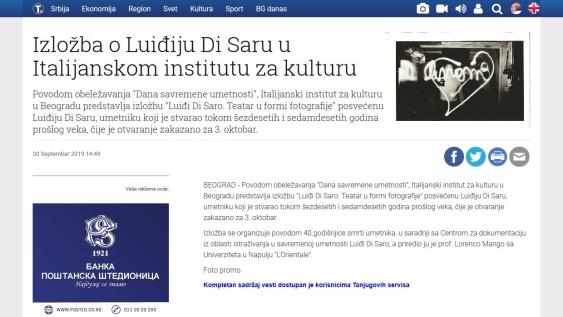 3009 - tanjug.rs - Izlozba o Luidjiju Di Saru u Italijanskom institutu za kulturu