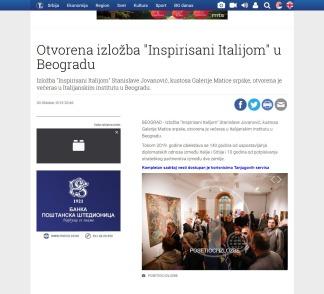 3010 - tanjug.rs - Otvorena izlozba Inspirisani Italijom u Beogradu