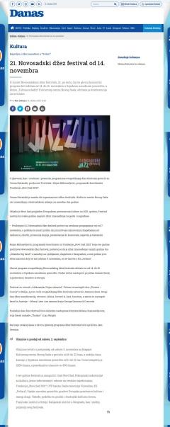 3110 - danas.rs - 21. Novosadski dzez festival od 14. novembra