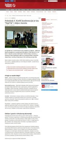 0412 - juznevesti.com - Pobednik 5. KreNI konferencije je tim DigiTik i ideja e-karata
