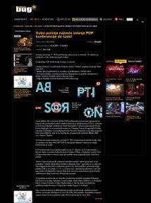 0910 - urbanbug.net - Sutra pocinje najvece izdanje PDP konferencije do sada