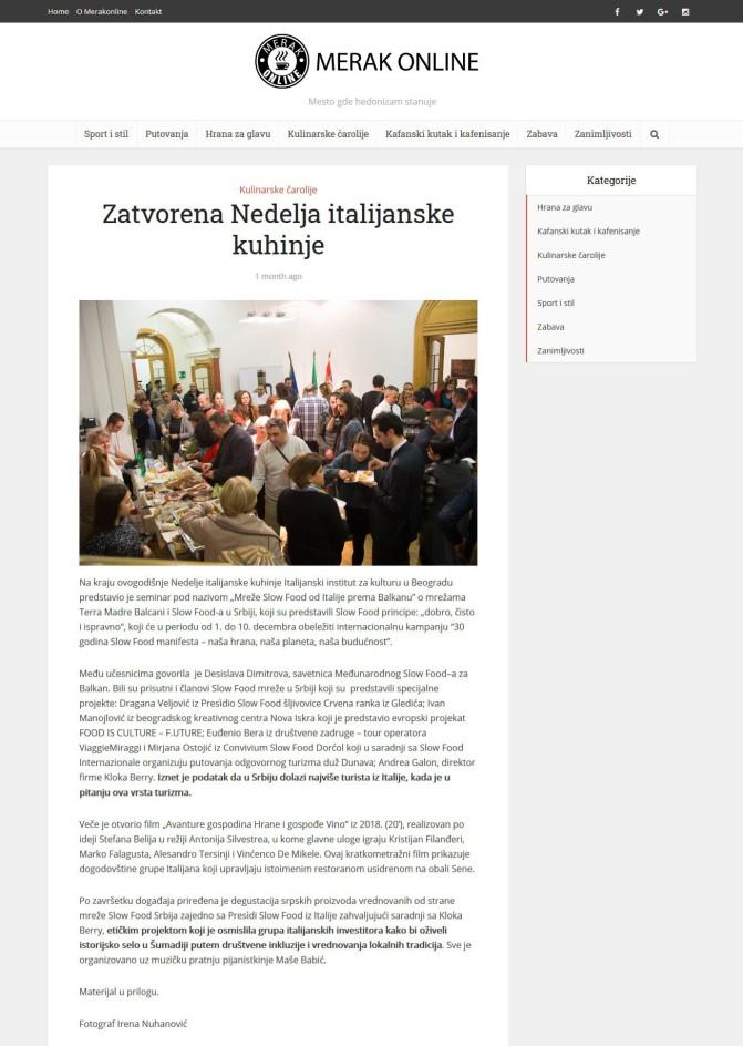 1012 - merakonline.com - Zatvorena Nedelja italijanske kuhinje