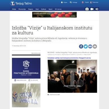1112 - tanjug.rs - Izlozba Vizije u Italijanskom institutu za kulturu