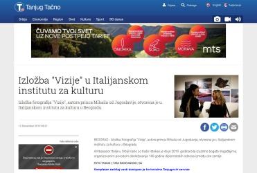 1212 - tanjug.rs - Izlozba Vizije u Italijanskom institutu za kulturu