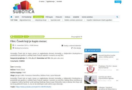 2011 - subotica.com - Film- Covek koji je kupio mesec