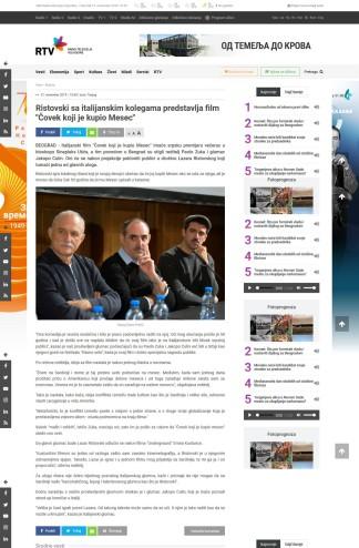 2111 - rtv.rs - Ristovski sa italijanskim kolegama predstavlja film Covek koji je kupio Mesec