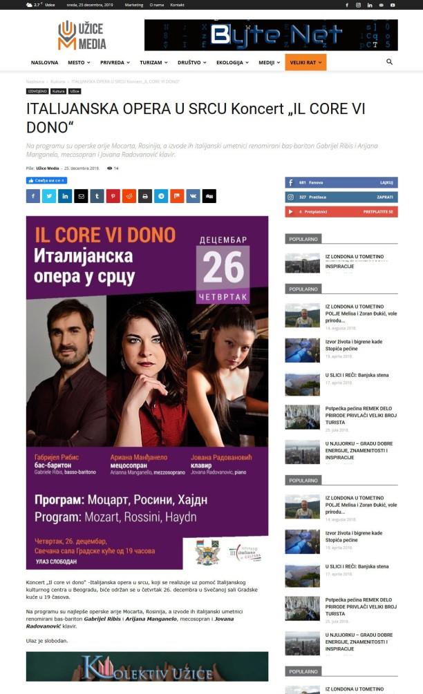 2512 - uzicemedia.rs - ITALIJANSKA OPERA U SRCU Koncert IL CORE VI DONO