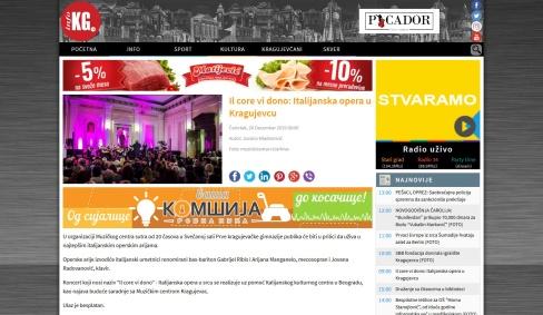 2612 - infokg.rs - Il core vi dono- Italijanska opera u Kragujevcu