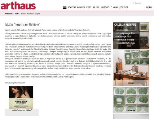 0303 - arthaus.rs - Izlozba Inspirisani Italijom