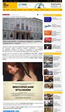0503 - mojnovisad.com - Otvaranje izlozbe Inspirisani Italijom u petak u Galeriji Matice srpske