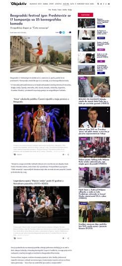 0503 - objektiv.rs - Beogradski festival igre predstavice se 17 kompanija sa 25 koreografska komada