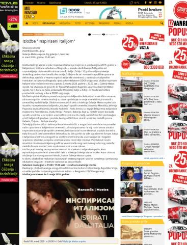 0603 - mojnovisad.com - Izlozba Inspirisani Italijom - Galerija Matice srpske - 06.03.2020