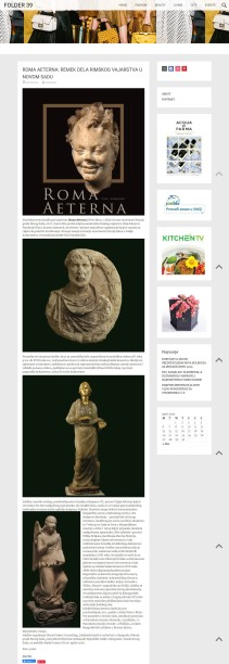 1003 - folder39.com - Roma Aeterna remek dela rimskog vajarstva u novom sadu
