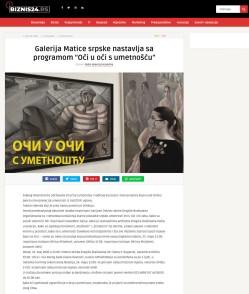 2005 - biznis24.rs - Galerija Matice srpske nastavlja sa programom Oci u oci s umetnoscu