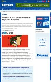 2203 - danas.rs - Nacionalni dan posvecen Danteu Aligijeriju
