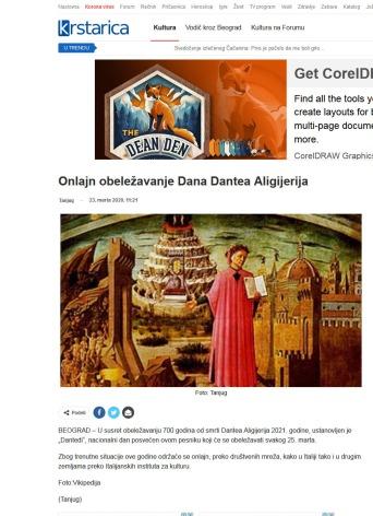 2303 - krstarica.com - Onlajn obelezavanje Dana Dantea Aligijerija
