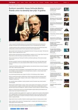 0107 - glassrpske.com - Buntovni zavodnik i ikona Holivuda Marlon Brando umro na danasnji dan prije 16 godina