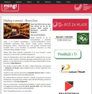 1001 - mingl.rs - Dijalog u muzici,Rossi Fest