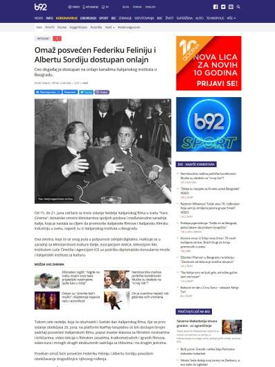 1206 - b92.net - Omaz posvecen Federiku Feliniju i Albertu Sordiju dostupan onlajn
