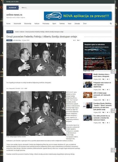 1206 - online-news.rs - Omaz posvecen Federiku Feliniju i Albertu Sordiju dostupan onlajn