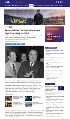 1301 - b92.net - Retrospektiva Felinijevih filmova u Jugoslovenskoj kinoteci
