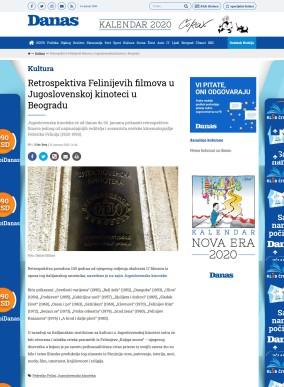 1301 - danas.rs - Retrospektiva Felinijevih filmova u Jugoslovenskoj kinoteci u Beogradu
