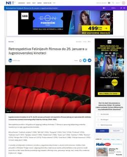 1301 - rs.n1info.com - Retrospektiva Felinijevih filmova do 26. januara u Jugoslovenskoj kinotecI
