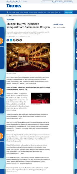 1401 - danas.rs - Muzicki festival inspirisan kompozitorom Salomonom Rosijem