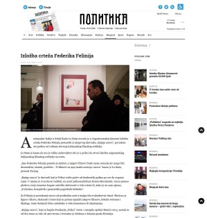 1401 - politika.rs - Izlozba crteza Federika Felinija