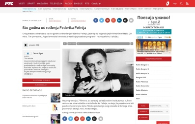 1401 - rts.rs - Sto godina od rodjenja Federika Felinija