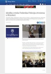 1401 - tanjug.rs - Izlozba crtea Federika Felinija otvorena u Kinoteci