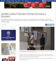 1401 - tanjug.rs - Izlozba crteza Federika Felinija otvorena u Kinoteci