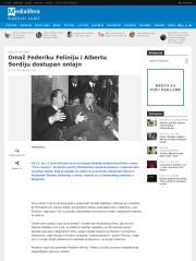 1406 - mediasfera.rs - Omaz Federiku Feliniju i Albertu Sordiju dostupan onlajn